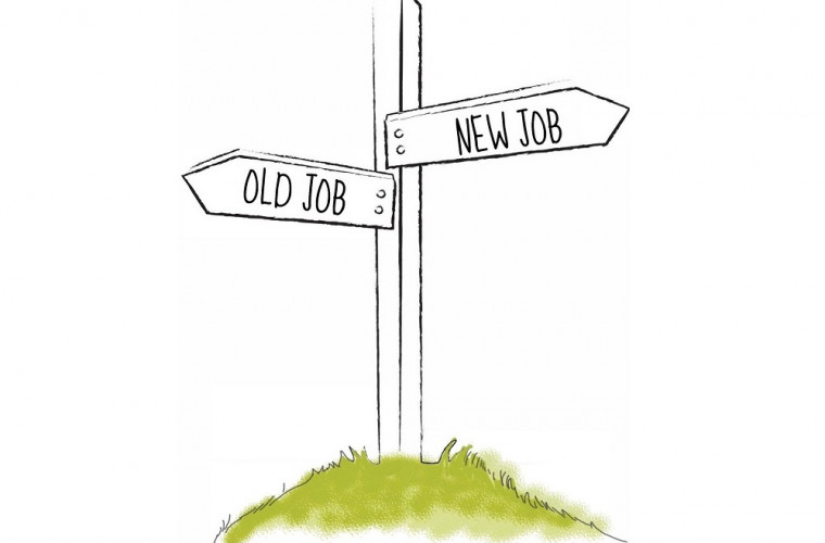 New job old job signpost