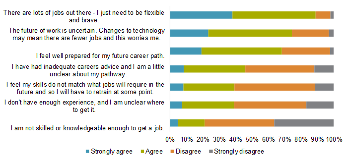 Expectations about the future of work