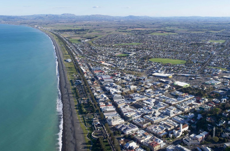 Hawke's Bay aerial photo of coastline