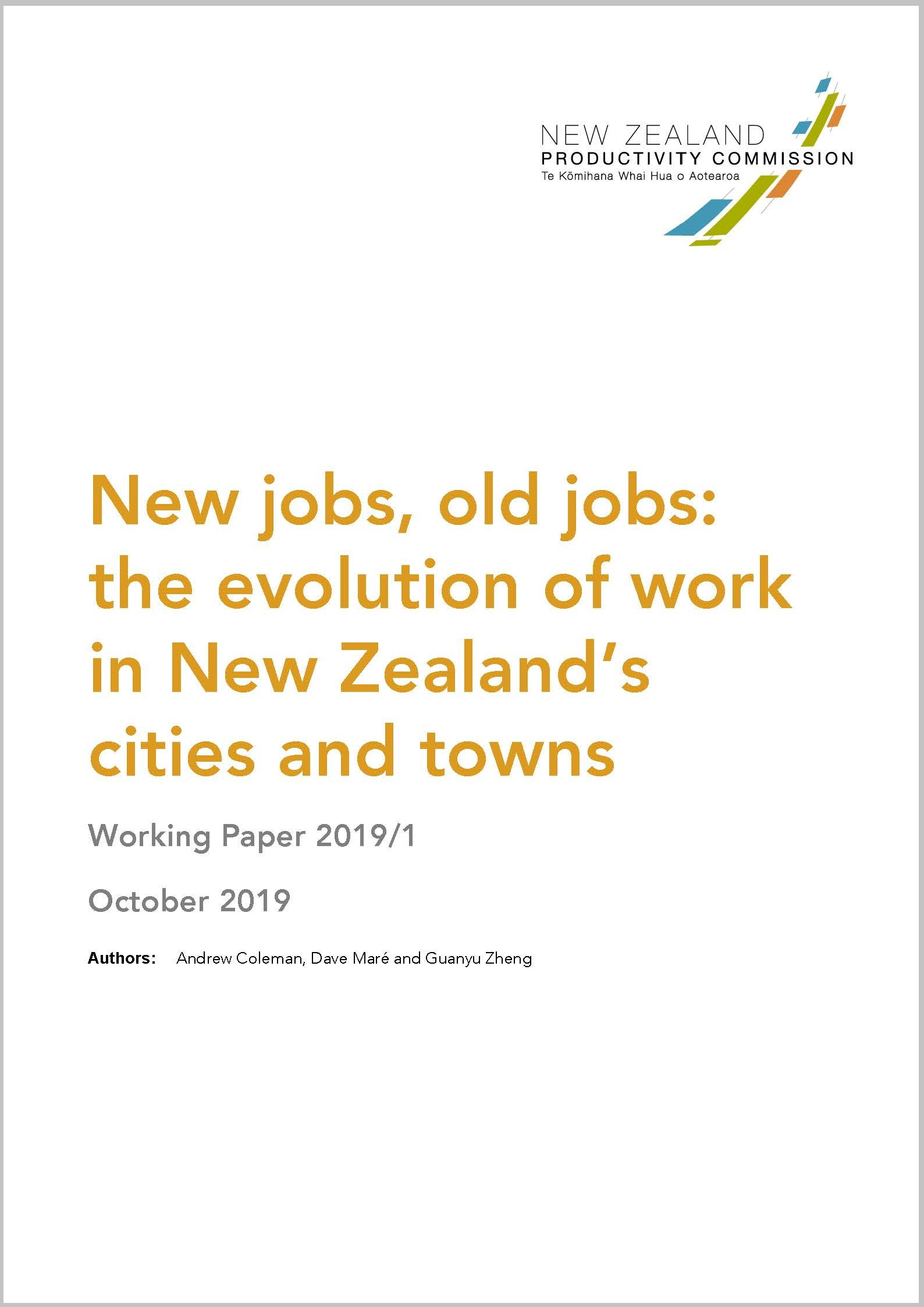 Productivity Commission | New jobs, old jobs